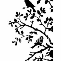 Stencil Birds and Branches - 21 x 30 cm