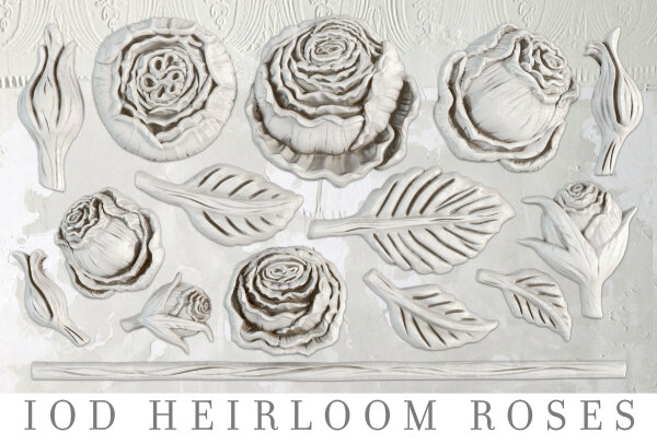 IOD Mould Heirloom Roses